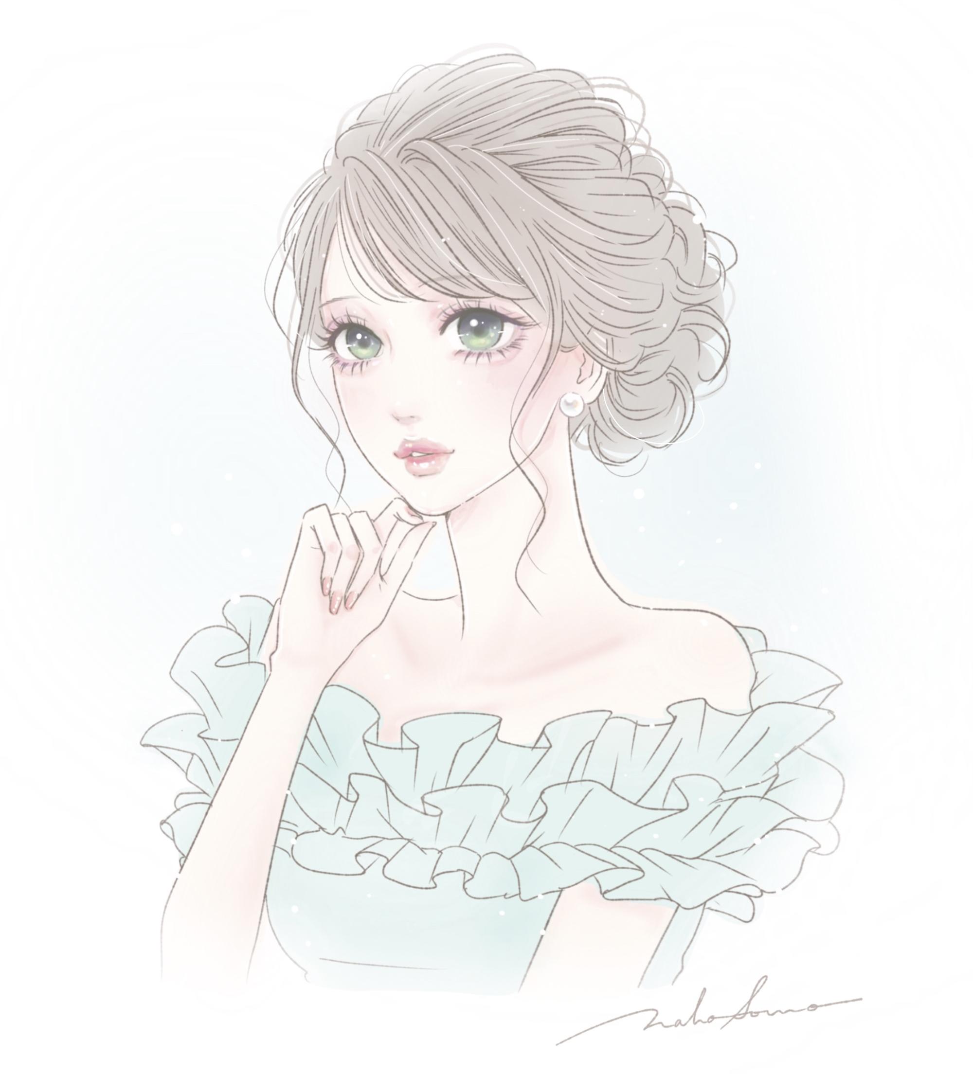"""""""女性のイラスト"""""""