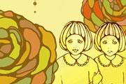 双子のイラスト
