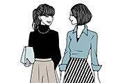 会話をする女性のイラスト