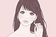 ガーリーな女の子のイラスト