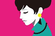 ビビットカラーの女性イラスト