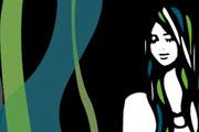 ロングヘアの女性イラスト