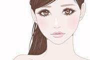 ポニーテールの美しい女性のイラスト