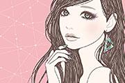 女の子らしい女性のイラスト