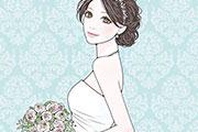 ウエディングドレスを着た女性のイラスト
