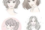 手描き風の女性イラスト