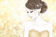 輝く女性のイラスト