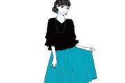 スカートの女性のイラスト